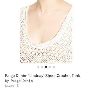 Paige denim Lindsay sheer crochet tank